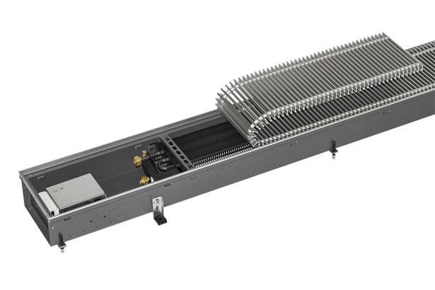 Kampmann Bodenkanalheizung QK (schmal)  Länge 3200 mm Breite 232 mm, Höhe 112mm
