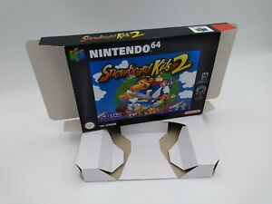 Snowboard Kids 2 - reproduction box with insert - N64 - Pal or NTSC. HQ !