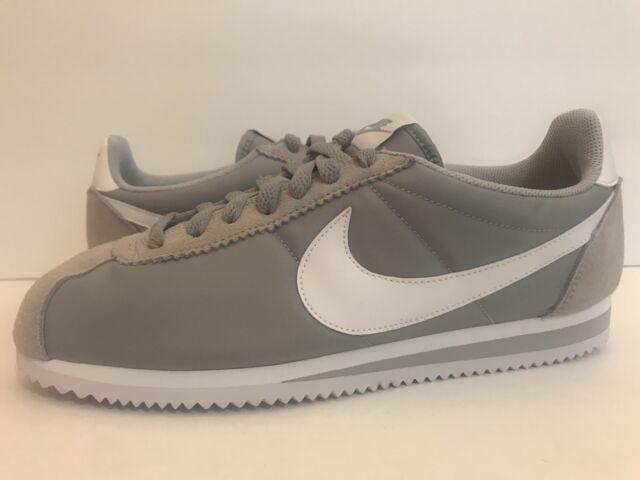 Nike Classic Cortez NylonWolfGreyWhite 807472 010 Sz 9.5