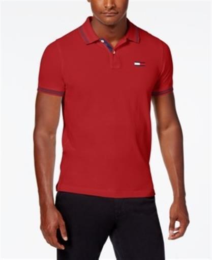 Tommy Hilfiger Denim Men's Slim Fit Red Blue