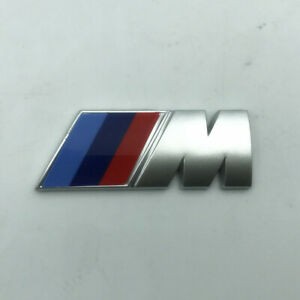 BMW M Sport Emblem Silver Sticker Rear Booth TrunkFender Badge 80x30mm UK seller
