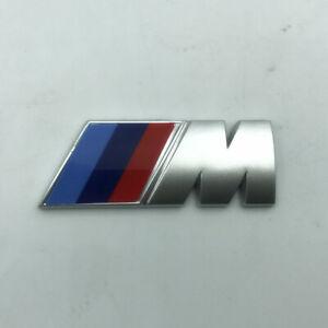 2x BMW M Sport Emblem Silver Sticker Side Wing Fender Badge 50x20mm Pair