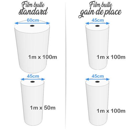 Rouleau bulles d/'air GAIN DE PLACE 25cm x 100m