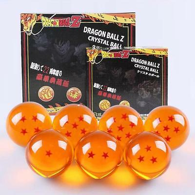 7pcs//Set DragonBall Z Stereo Stars Crystal Ball 3.5cm 4.5cm 7.6cm New In Box