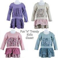 Naartjie Baby Girls Size 3 6 12 Months Long Sleeve Pieced Mixed Fabric Dress
