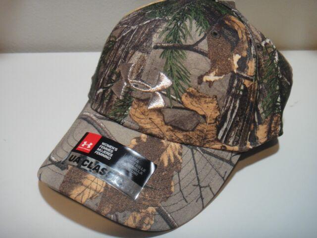 Under Armour Realtree Xtra Camo Womens Heatgear Classic Fit Snap Back Hat  One SZ 41aeadc4b5cb