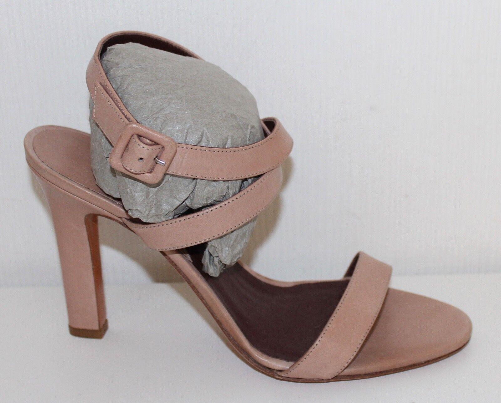 Bruno Magli sandalias de cuero con tiras sandalias 39 Leather sandals nude tacón alto