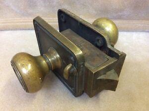 Vintage Antique Corbin Double Lock Solid Brass Hotel