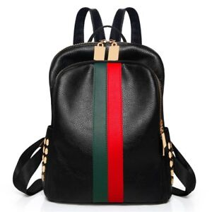 Image Is Loading Las Luxury Leather Bag Backpack Gucci Pattern Tote