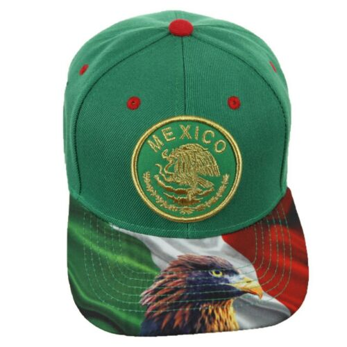 Mexico Flag Baseball Cap MEXICAN Eagle Hat Snapback Adjustable Hip Hop Hiking