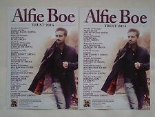 """ALFIE BOE... Live in Concert """"Trust"""" 2014 UK Tour. Promo tour flyers x 2"""