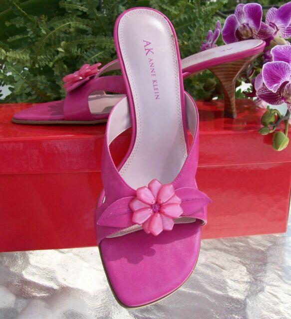 NEW AK Anne Klein Pink/Fuschia Detailed Heels~Sz 7.5~Drop Dead Gorgeous~MIB