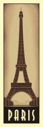 Paris by Steve Forney Art Print Eiffel Tower Vintage Travel France Poster 19x13