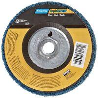 Norton Non-woven Depressed Center Rapid Strip Wheel, 4-1/2 Diameter, 5/8-11 ,