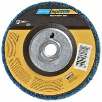 Norton Non-woven Depressed Center Rapid Strip Wheel, 4-1/2 Diameter, 5/8-11 ,