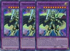 Playset 3 x Timaeus the Knight of Destiny - DRL3-EN055 - Ultra Rare 1st Ed
