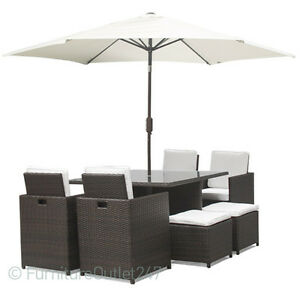 Rattan-Garden-Dining-8-Seat-set-Patio-furniture-cube-Flip-Back-Chairs-Parasol