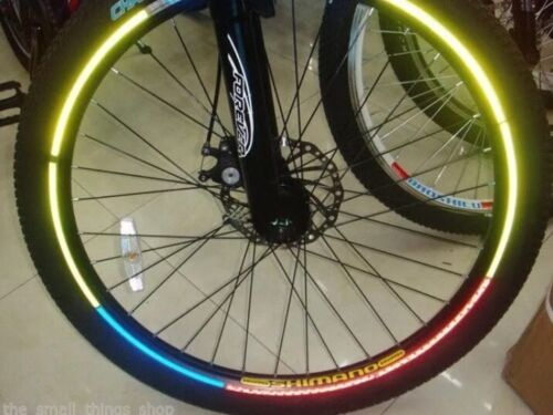 Blue Reflective Bike Wheel Rim Stickers Cycling Safety Reflector Bright Stickers