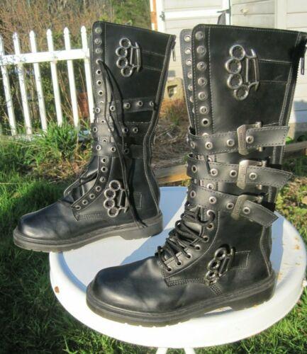 "Demonia ""Defiant-402"" Black Vegan Leather Soft Toe"