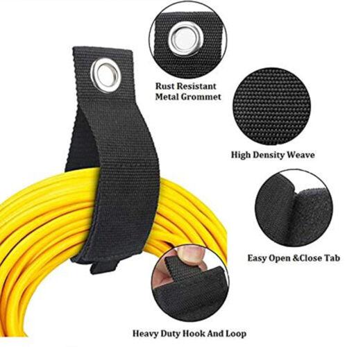 Heavy Duty Storage Straps Garage Hooks 10Pcs Extension Cord Holder Organizer