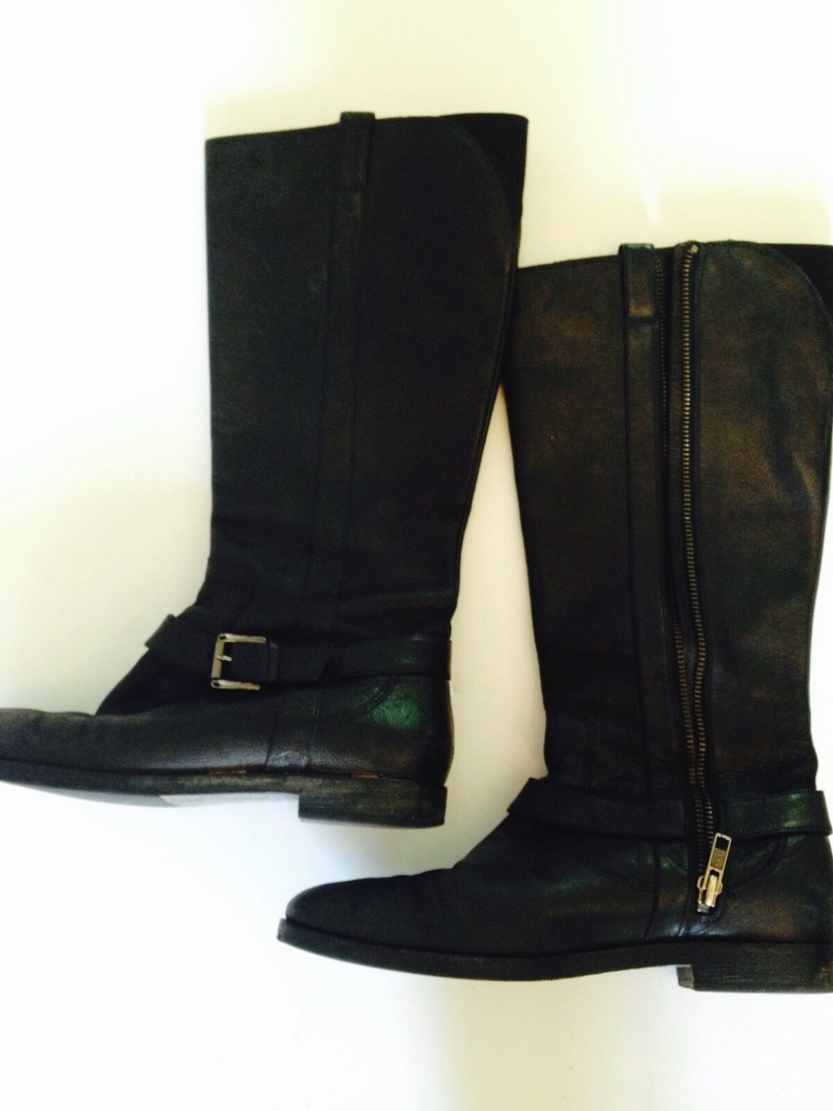 Cole Haan shoes Size 7 Women Women Women Black Boots Solid Belted Side Zip Casual High f39f13
