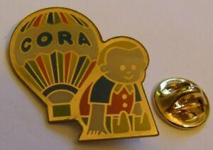 HOT-AIR-BALLOON-CORA-CHILD-vintage-Pin-Badge