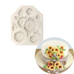 Eg-Fm-DIY-Silicone-Blanc-Tournesol-Moule-Gateau-Fondant-Argile-de-Cookie