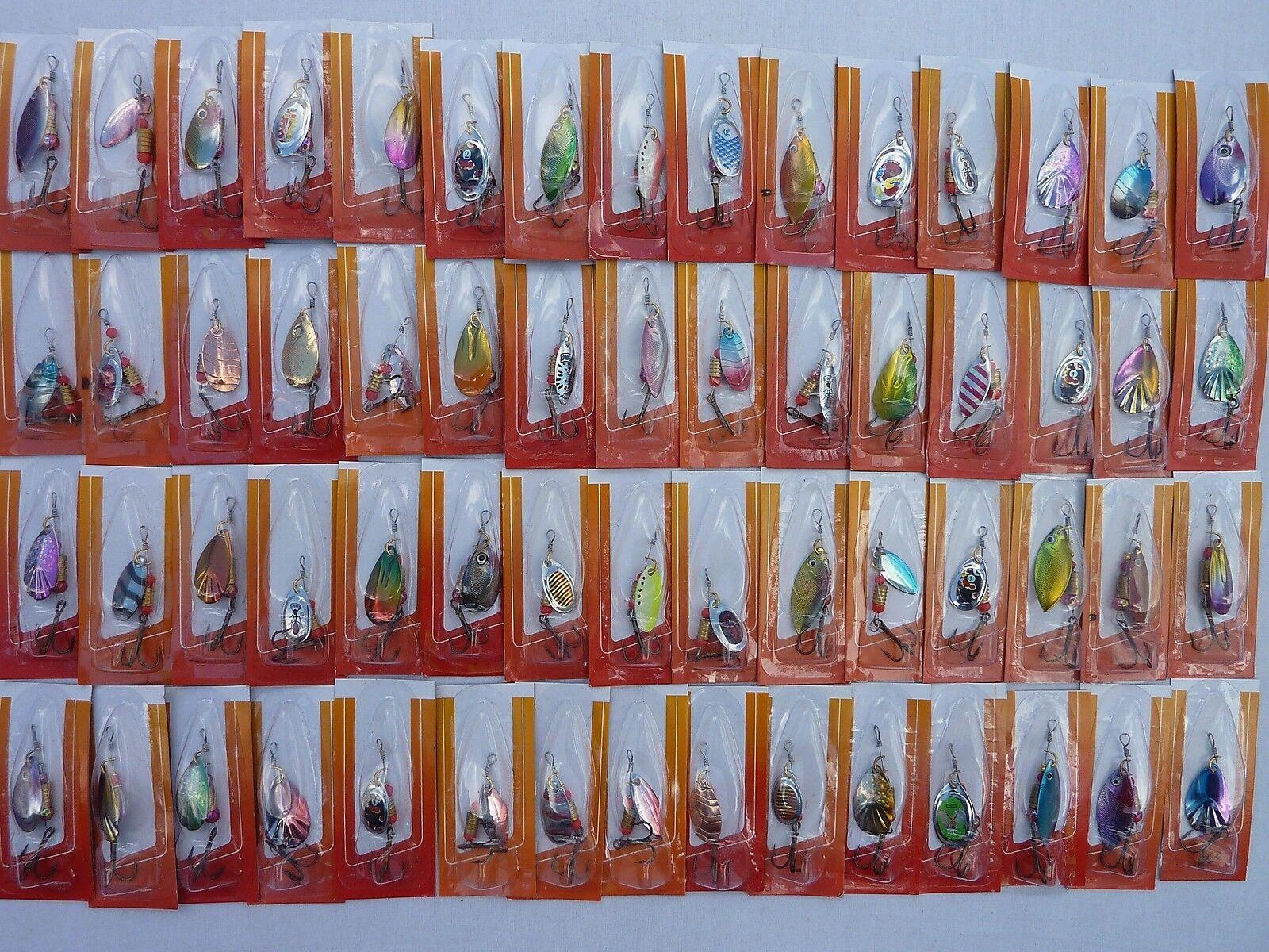 Lot 60 60 60 CUILLERS de peche TRUITE perche sandre brochet leurres carnassier spinner 745c70