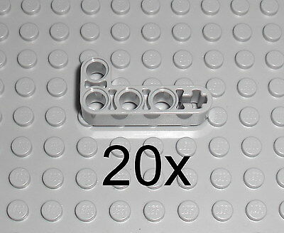 20x Lochbalken Lochstange Liftarm Winkel 2x4 rot red bent 32140 LEGO Technic