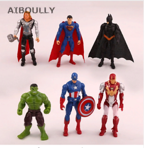 6-PCS-Avengers-Action-figures-BATMAN-Mini-Spider-man-captain-america-hulk-Baby
