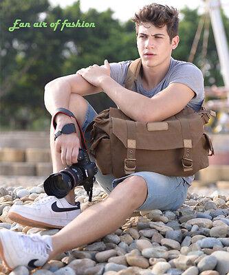 Casual Canvas Camera Shoulder Messenger Case Bag For Canon Nikon Sony DSLR SLR