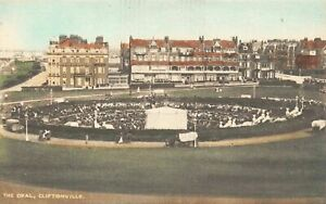 Vintage-RA-Series-Kent-Postcard-The-Oval-Cliftonville-Margate-97Z