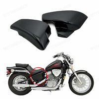 Black Battery Side Covers For Honda Shadow Vlx Deluxe Vt600cd 2006 2007