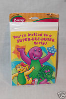 Barney 8 Invitations With Envelopes Party Supplies 1