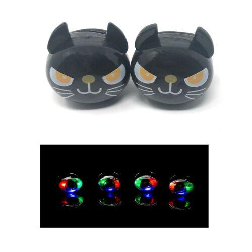 2 chat noir clignotant DEL Gelée Anneaux Light Up doigt Glow jouet sac fête Faveurs
