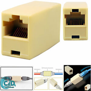 rj45 ethernet lan cat5e cat6 kabel verbinder adapter. Black Bedroom Furniture Sets. Home Design Ideas