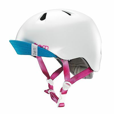 New - Bern Unlimited Jr. Nina Summer Helmet with Visor - White - XS / Small
