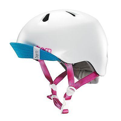 New - Bern Unlimited Jr. Nina Summer Helmet with Visor - White - XS / Small