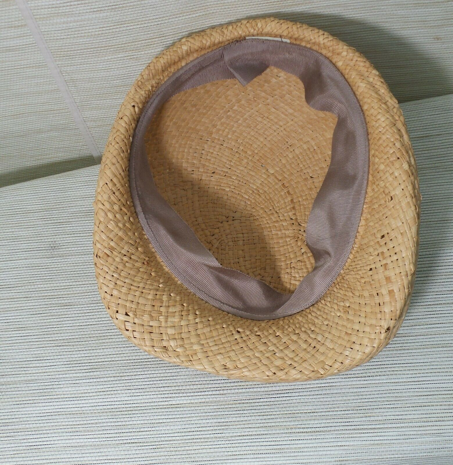 Straw Cabbie Hat Cap Union Made Natural Newsboy M… - image 9