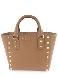Image is loading New-Authentic-Michael-Kors-Sandrine-Stud-Small-Leather- c8f8bd6b16b7f