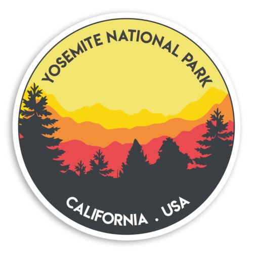 UU 2 X 10cm Parque Nacional Yosemite Pegatinas De Vinilo-EE Etiqueta de equipaje #20196