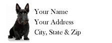 Scottish Terrier Return Address Label