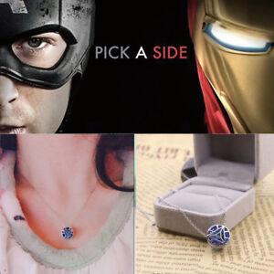 Details about Iron Man Arc Reactor Pendant 925 sterling Tony Stark Avengers  Handmade