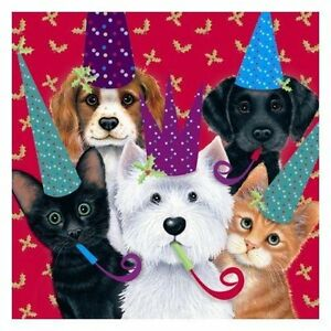 Christmas-Party-Westie-Labrador-Cavalier-Black-Ginger-Cats-10-pack-small-cards