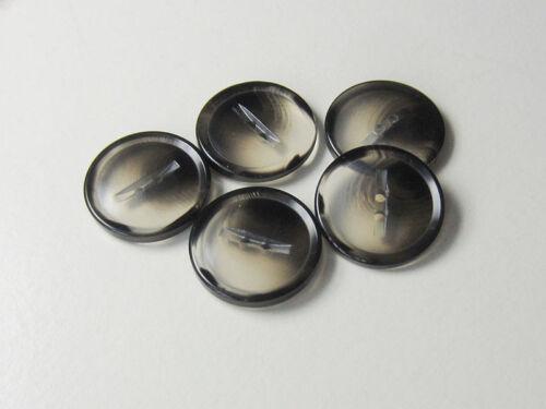 5664gr 10 moderne gris transparent noir deux trous en plastique Boutons