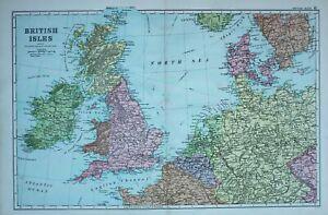 1900-Carte-Iles-Britanniques-Irlande-Angleterre-Ecosse-Galles-Hollande-Belgique
