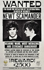 """Fantastic Beasts & Where to Find Them ( 11"""" x 17"""" ) Wanted Poster Print - B2G1F"""