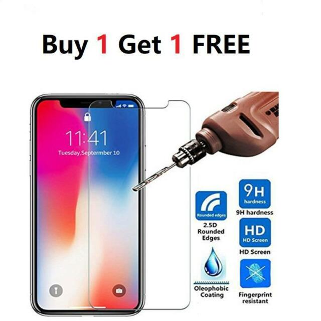 For Apple IPhone X - 100% Genuine Tempered Glass Film Screen Protector New