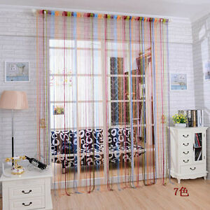 bunt fadenvorhang t r vorhang gardine schal faden t rvorhang fadengardine ebay. Black Bedroom Furniture Sets. Home Design Ideas
