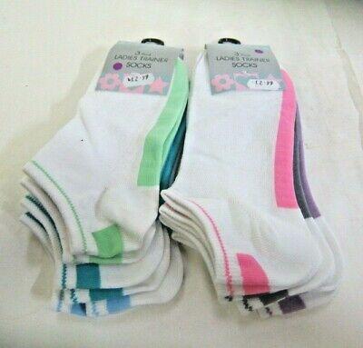 UK 4-7 2 Colours Ladies Annuci Trainer Socks SK270